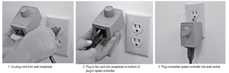 Plug-In Variable Speed Control Installation